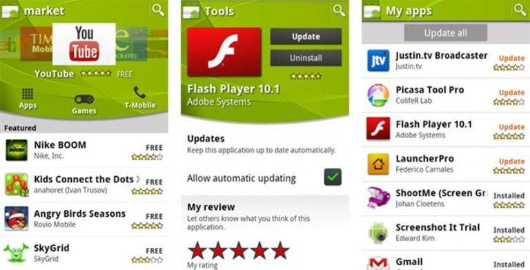 Jak funguje Android market